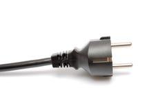 Plugue elétrico isolado no branco Imagens de Stock Royalty Free