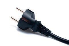 Plugue elétrico no branco Foto de Stock Royalty Free