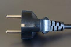 Plugue elétrico preto Imagem de Stock