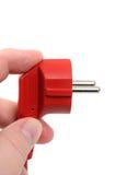 Plugue elétrico vermelho imagens de stock royalty free