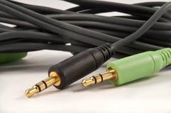 Plugues audio Fotografia de Stock