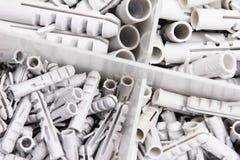 Plugues de parede plásticos imagem de stock