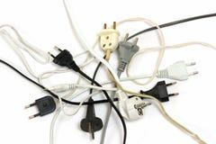 Plugues elétricos Fotografia de Stock