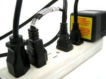 Plugues elétricos fotografia de stock royalty free
