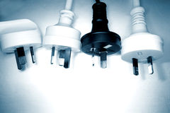 Plugues elétricos imagem de stock
