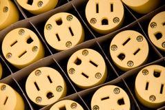 Plugues elétricos foto de stock