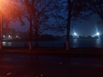 Pluie à IIT Guwahati Image libre de droits