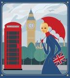 Pluie à Londres Image libre de droits
