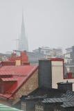 Pluie à Stockholm image libre de droits