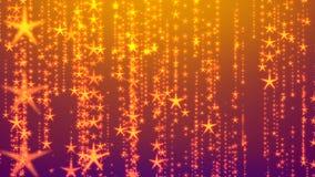 Pluie éclatante d'étoiles filantes illustration libre de droits