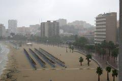 Pluie au nova de Palma Image libre de droits