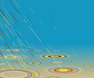 Pluie colorée Photographie stock