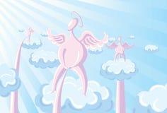 Pluie d'ange Illustration de Vecteur