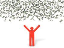 Pluie d'argent Image stock
