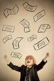 Pluie d'argent Photographie stock libre de droits