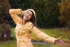 Pluie d'automne photo libre de droits