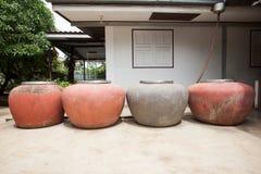 Pluie dans des pots Photos stock