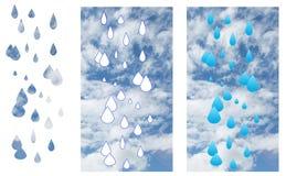 Pluie dans le ciel image stock