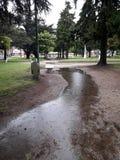 Pluie dans une place publique photo libre de droits