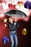 Pluie de cadeaux Photographie stock
