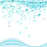 Pluie de coeur Image libre de droits