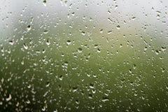 Pluie de fenêtre Images libres de droits