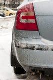 Pluie de glace au-dessus de Bucarest, Roumanie Images stock