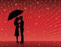 Pluie de l'amour. Images libres de droits
