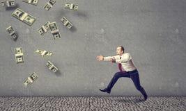 pluie de l'argent 3D Image libre de droits