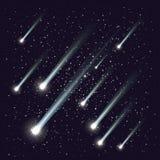 Pluie de météores illustration libre de droits