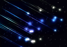 Pluie de météores dans l'espace Photographie stock