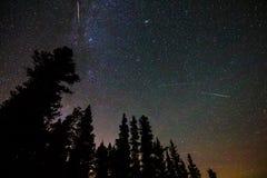 Pluie de météores de Perseid Images stock