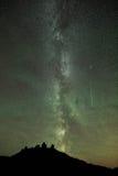 Pluie de météores de Perseid et manière laiteuse image stock