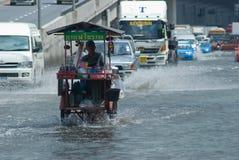 Pluie de mousson à Bangkok, Thaïlande Photographie stock libre de droits