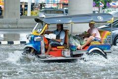 Pluie de mousson à Bangkok, Thaïlande Image stock