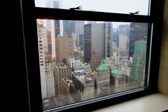 Pluie de New York City Images libres de droits