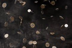 Pluie de pièce de monnaie polonaise Photo libre de droits