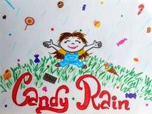 Pluie de sucrerie photo libre de droits