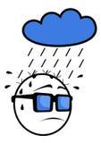 Pluie de visage Photo stock