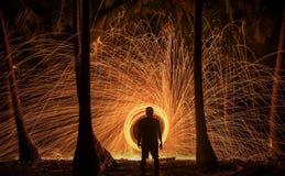 Pluie du feu Images libres de droits