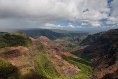 Pluie entrante au canyon de Waimea Image stock