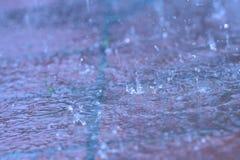 Pluie extérieure Photo libre de droits