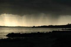 Pluie forte venant bientôt Images stock