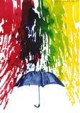 Pluie heureuse Photos libres de droits