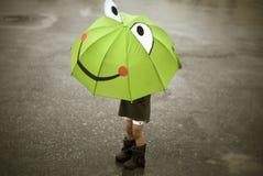 Pluie heureuse Images libres de droits