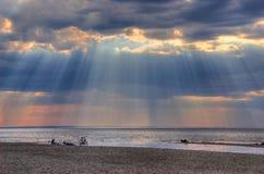 Pluie légère de Sun Photos stock