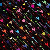 Pluie sans couture d'amour de coeur Image stock