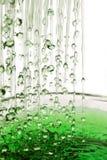 Pluie verte Image stock