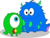 Pluizige Monsters Royalty-vrije Stock Afbeelding