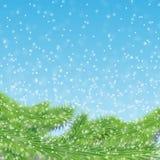 Pluizige sneeuw Royalty-vrije Stock Afbeeldingen